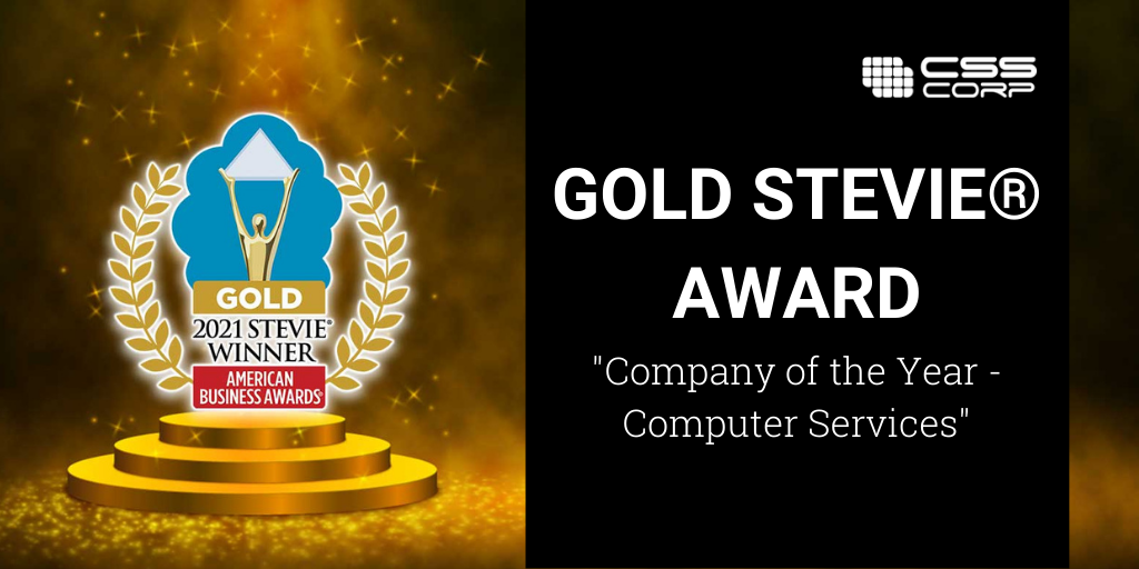 Gold Stevie Award blog banner